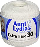 Coats Crochet Aunt Lydia's Crochet, Cotton Extra Fine Size 30, White