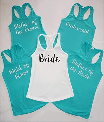 d51cdfce0740 Bride, Bridesmaid, Maid of Honor - Bachelorette Party Shirts, Bridal Party  Tank Tops, Bride Tank Bridal Party shirts - Bridal party tanks - v necks -  crew ...