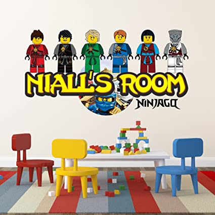 Prime Personalised Lego Ninjago Name Mural Wall Sticker Kids Bedroom Name 3 Sizes Any Name 1200Mm X 630Mm Download Free Architecture Designs Scobabritishbridgeorg