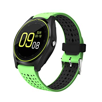 multi function v9 smart watch touch screen bluetooth watch support