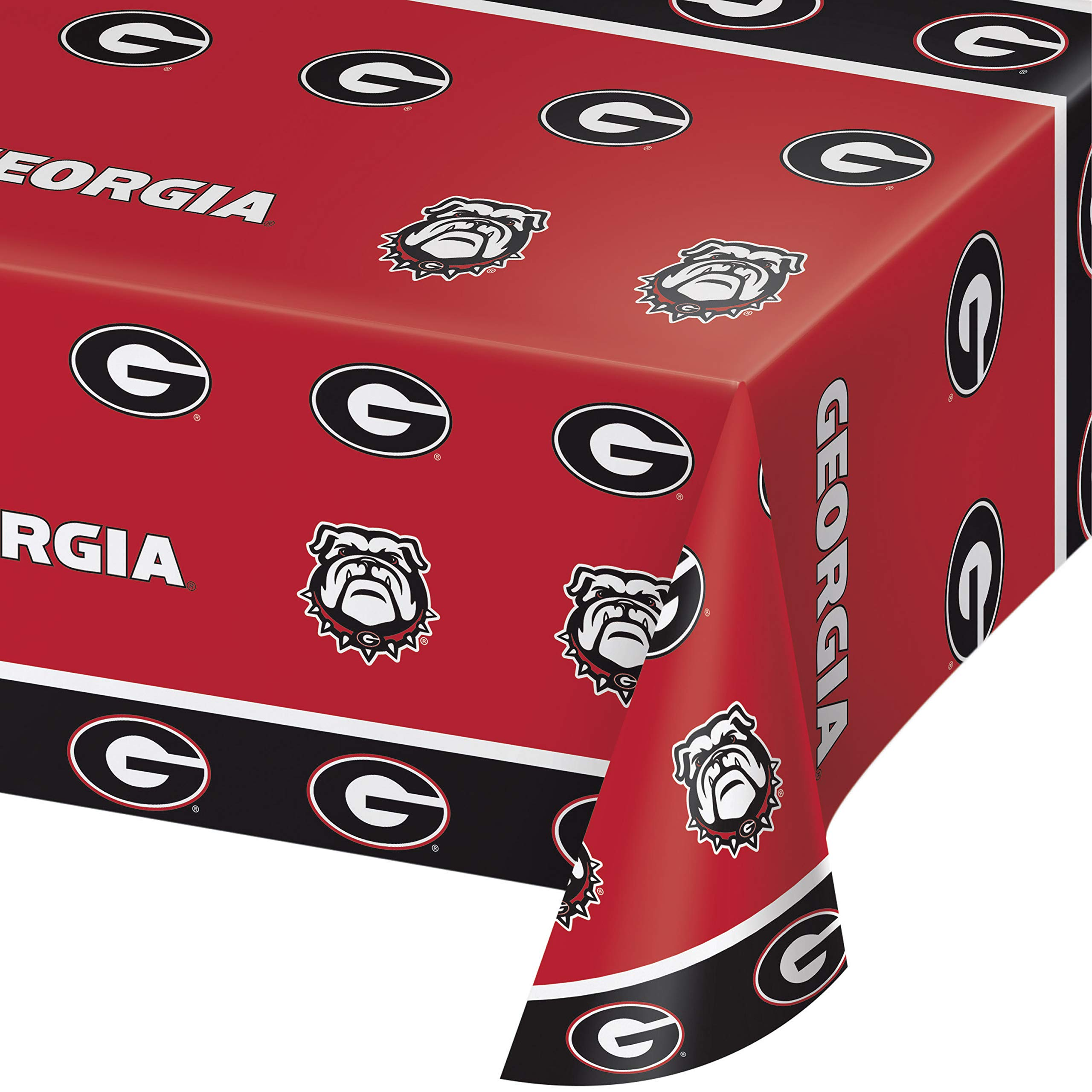 Creative Converting 336369case University of Georgia Tablecloths 54'' 108'' Red