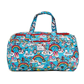 d9d347661 Amazon.com : Ju-Ju-Be Tokidoki x Hello Kitty Collection Starlet Diaper Bag,  Rainbow Dreams : Baby