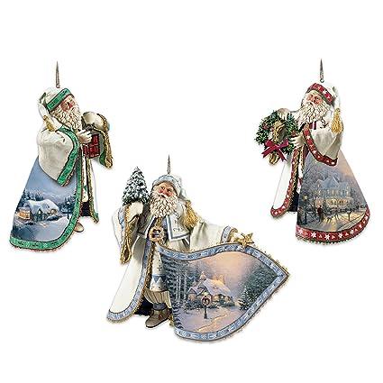 Amazon.com: Thomas Kinkade Santa Claus Heirloom Christmas Ornaments ...