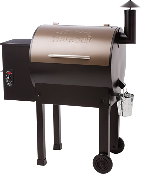 Traeger TFB42LZBC Grills Lil Tex Elite 22 Wood Pellet Grill and Smoker - Grill, Smoke, Bake, Roast, Braise, and BBQ (Bronze)