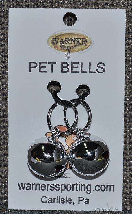 Amazon.com: Warner Small Silver Colored Pet campanas de ...