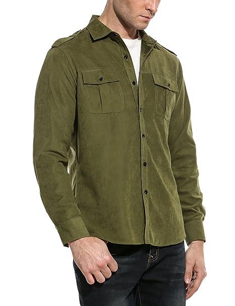 Amazon.com: COOFANDY - Camisa de camping para hombre, de ...