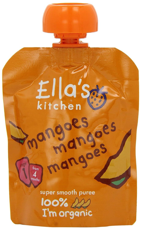 Ella's Kitchen Stage 1 From 4 Months Mangoes 70 g (Pack of 7) Ella' s Kitchen EK151