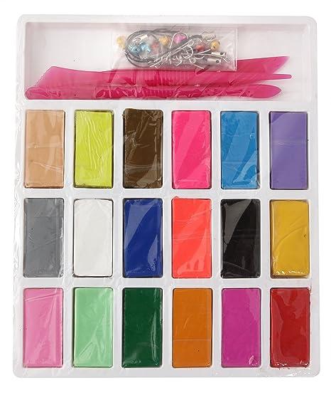 Liyuan DIY Mixed Color arcilla polimérica molde 18 colores suave ...