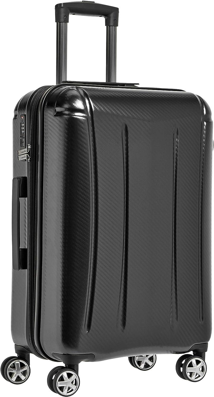 AmazonBasics - Maleta rígida «hardside» Oxford, con ruedas - 78 cm, Negro