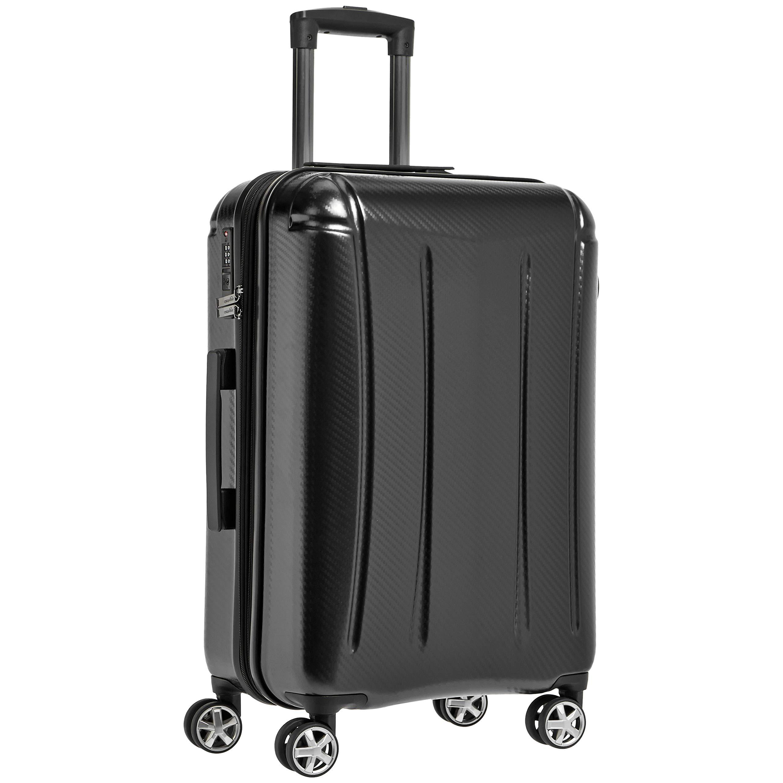AmazonBasics Oxford Luggage Expandable Suitcase with TSA Lock Spinner, 28-Inch, Black