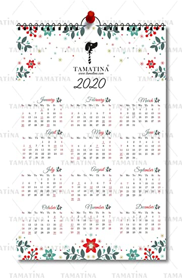 Buy Tamatina 2020 Calendar Nature Floral Modern Art Wall Calendars 2020 Calendars For Home Hd Quality Wall Calendar 2020 Online At Low Prices In India Amazon In