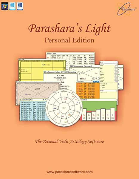 Parasharas Light Astrology Software Personal Edition English