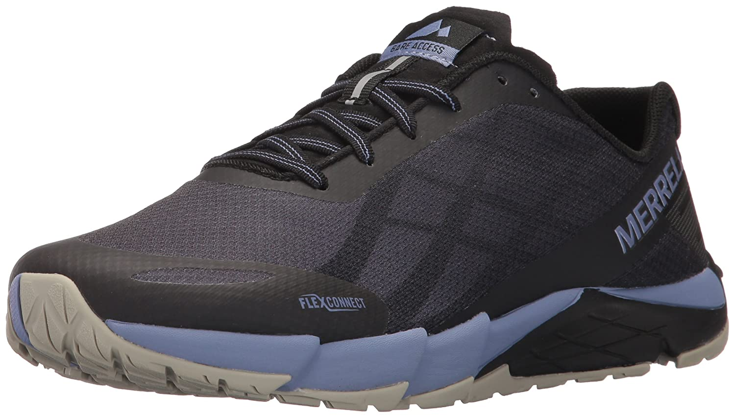 Merrell Women's Bare Access Flex Trail Runner B01MSAI96O 10 B(M) US|Black/Metallic Lilac