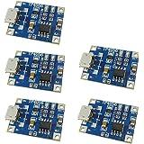 Aihasd 5 Stücke TP4056 1A Lithium Akkus Board netzteil Ladegerät Modul DIY MICRO -USB-Anschluss