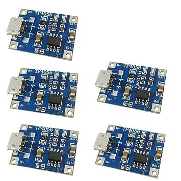 Aihasd 5PCS TP4056 1A Micro-USB-conexión carga de baterías ...
