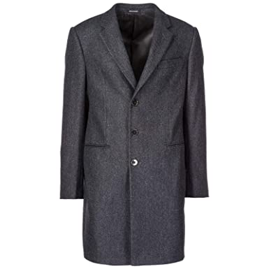 Emporio Armani Cappotto Uomo Grigio 50 EU  Amazon.it  Abbigliamento 8c6043e49353