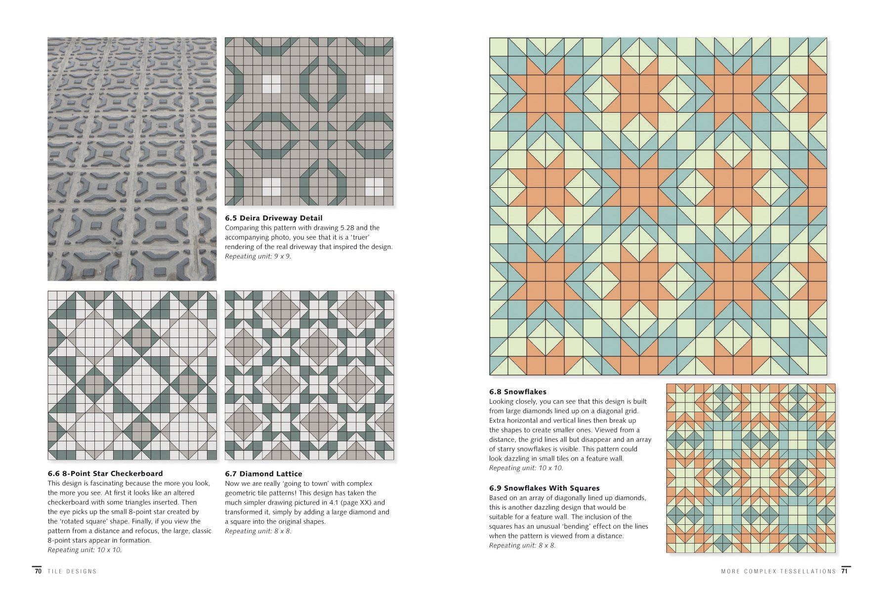 Tile Designs: More Than 100 Ready-to-Use Tiling Patterns: Leila Adam ...