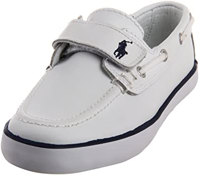 Polo Ralph Lauren Kids Sander EZ Sneaker (Toddler/Little Kid),White,