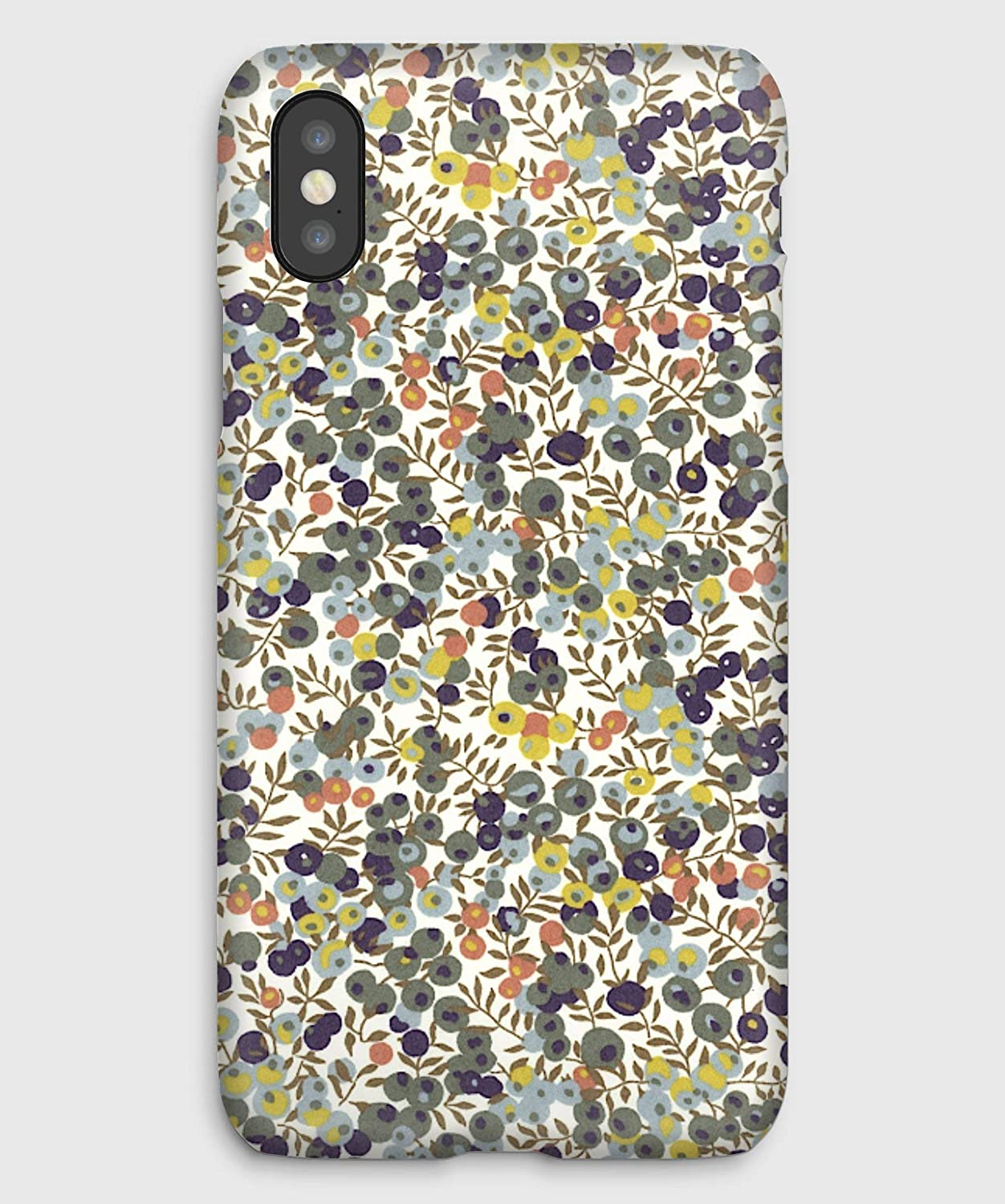 Liberty Wiltshire Provence, coque pour iPhone XS, XS Max, XR, X, 8, 8+, 7, 7+, 6S, 6, 6S+, 6+, 5C, 5, 5S, 5SE, 4S, 4,