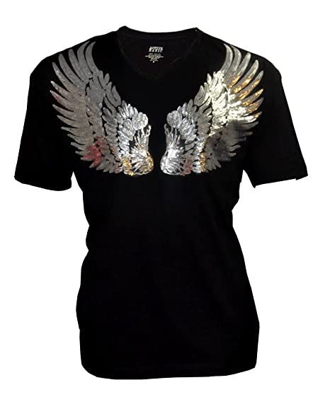 98a107ab0b237 Amazon.com  Women Plus Size with Sequin Angel wings Bling Bling T-Shirt