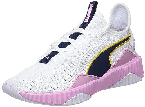 Puma Defy Wns Zapatillas de Deporte Mujer, Blanco (Puma White-Pale Pink)