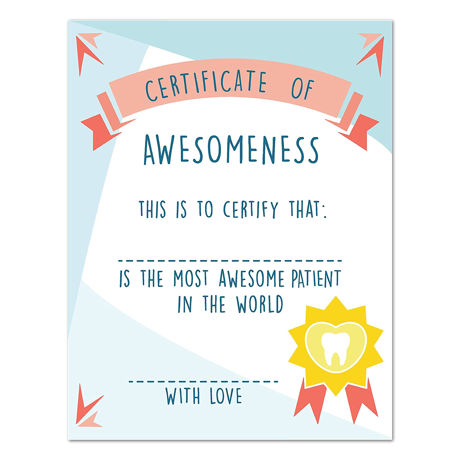 Amazon Certificate Of Awesomeness Best Patient Certificate