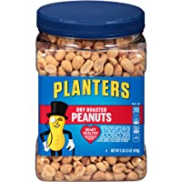 Planters Dry Roasted Peanuts, 34.5 oz Jar (Pack of 3)