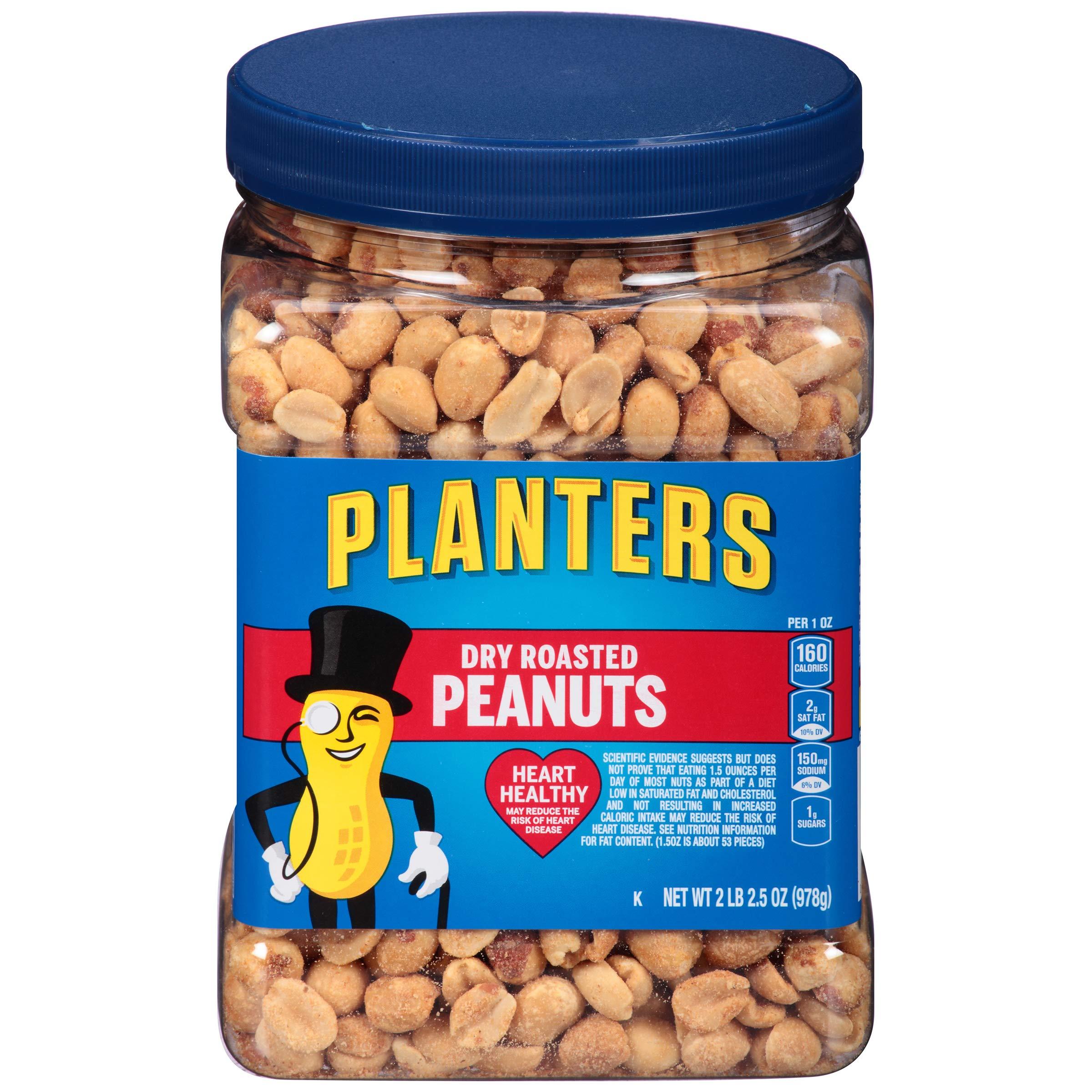 Planters Peanuts, Dry Roasted & Salted, 34.5 Ounce Jar