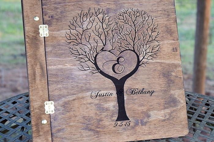 Amazon.com: Tree Guest Book - Rustic Wedding Guest Book - Wood Guest ...