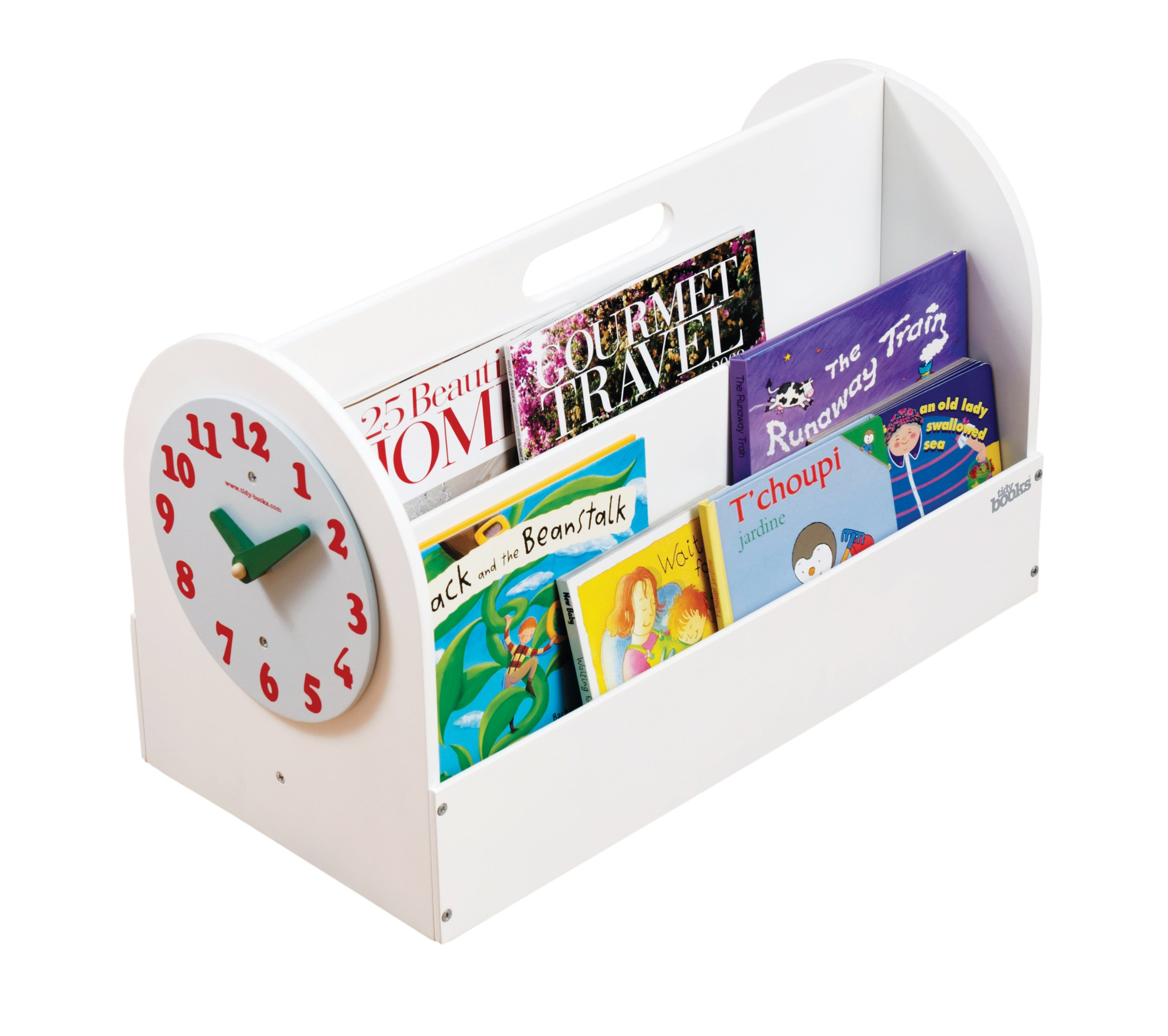 Tidy Books -The Original Kid's Book Box in White - Book Storage and Book Display - Wooden Box for Kids Books - 13.8in L x 21.6in W x 12.2in D