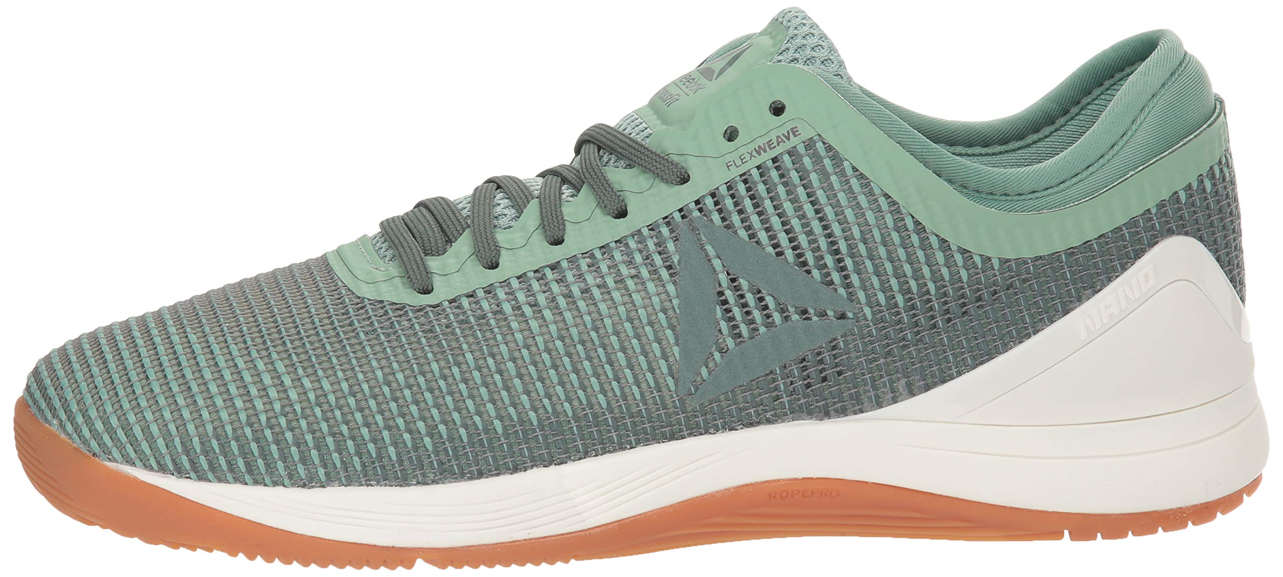 Reebok Women's CROSSFIT Nano 8.0 Flexweave Cross Trainer, industrial green/chalk grey, 5 M US by Reebok (Image #5)