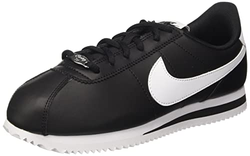 Difuminar seguro Nueva llegada  Buy Nike Boys' 904764-001: Big Kid Cortez Basic Sl/Sneakers 4 M US  Black/White at Amazon.in