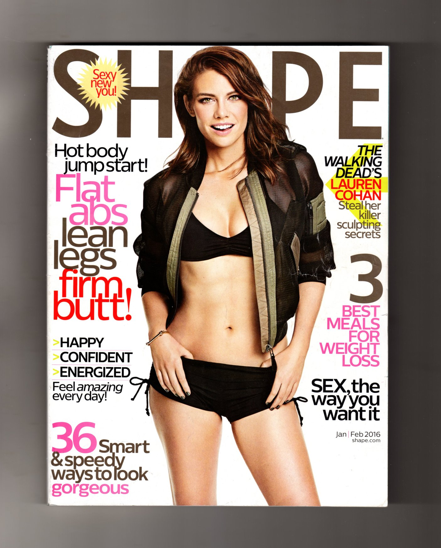 Download Shape Magazine (January/February, 2016) Lauren Cohan The Walking Dead Cover ebook