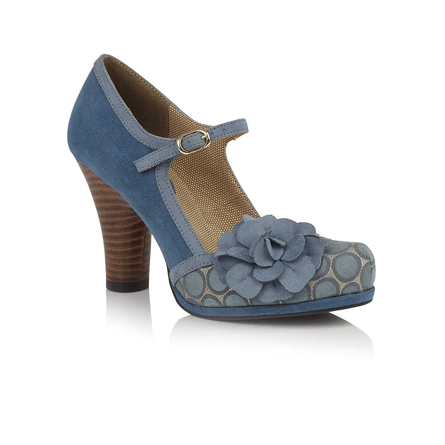 Ruby Shoo Ladies Hannah Teal 1950'S Vintage Inspirouge chaussures 092976-UK 9 (EU 42)