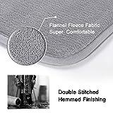 H.VERSAILTEX Non Slip Flannel Bathroom Rugs Set