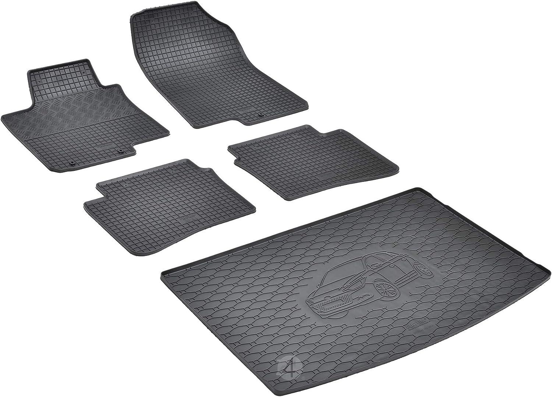 Passende Gummimatten und Kofferraumwanne Set geeignet f/ür Hyundai i20 ab 2014 EIN Satz