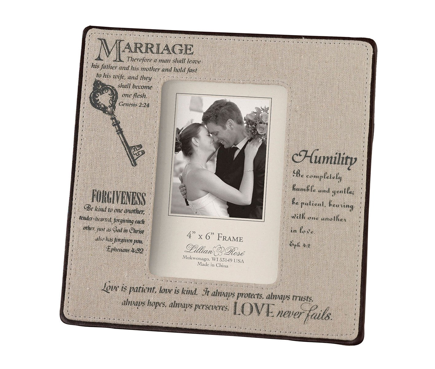Lillian Rose Traditional Marriage Picture Frame 4x6 FR370