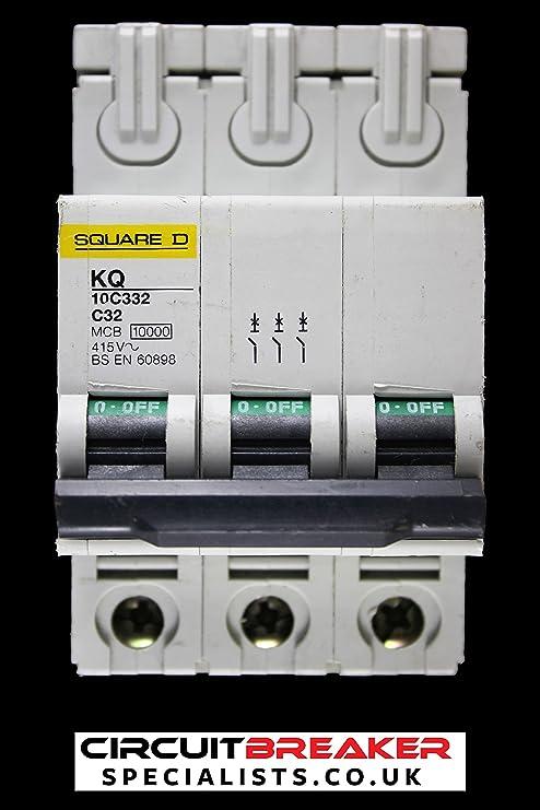 SQUARE D TYPE 10000  B40 SINGLE POLE MCB 40 AMP