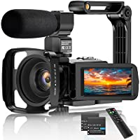 "Videocamera 2.7K Camcorder UHD 36MP Vlogcamera voor YouTube IR Nachtzicht 3.0 ""LCD-touchscreen 16x digitale zoom…"