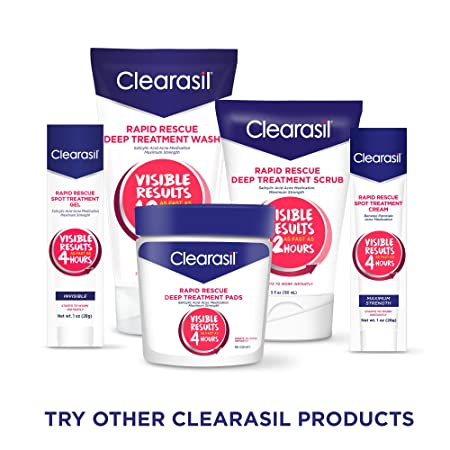 Amazon.com: Clearasil Rapid Rescue Deept Treatment Scrub, 5 oz. (Packaging may vary): Beauty