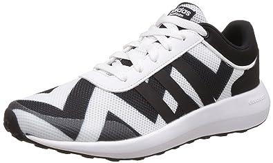 Adidas neo  mujer 's cloudfoam Race W ftwwht, cblack y ftwwht