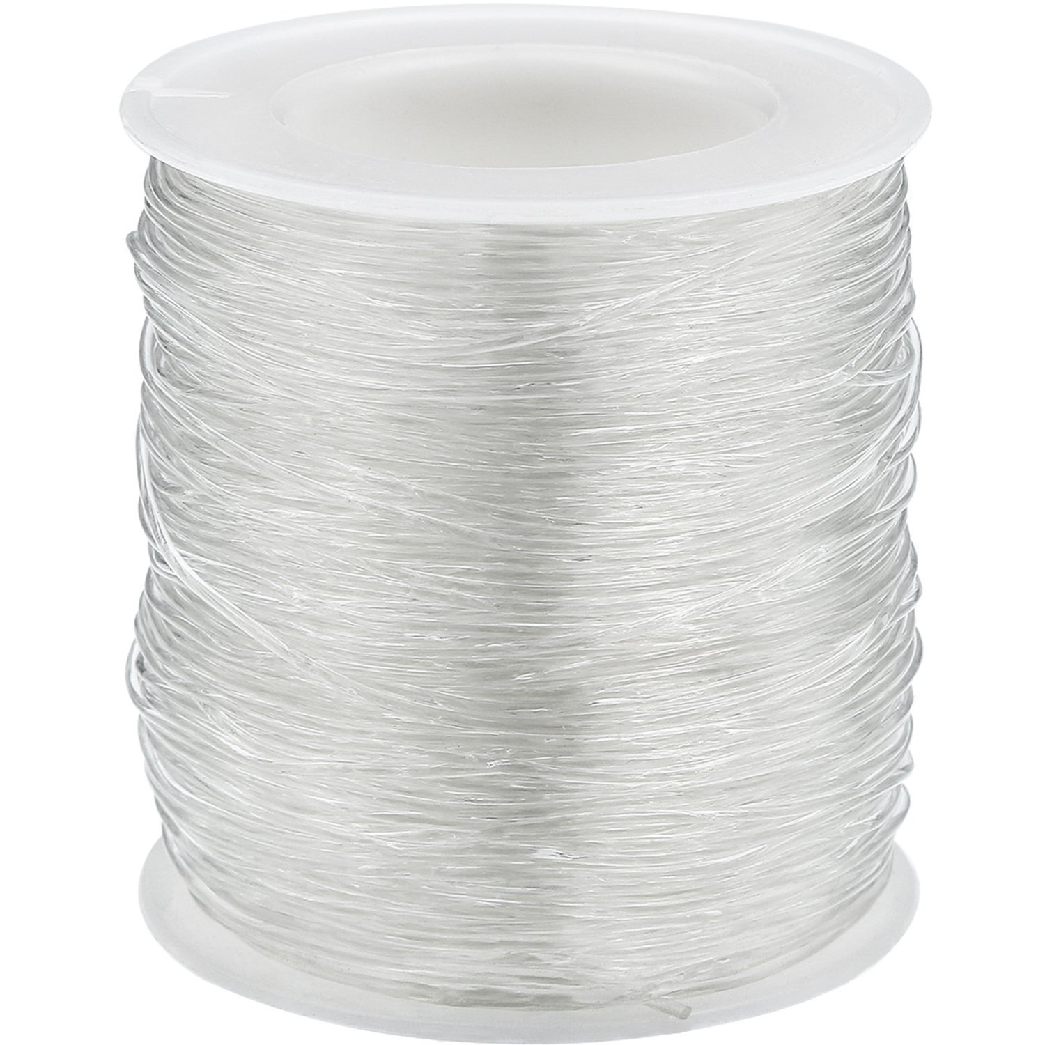 Bememo Elastic Clear Beading Thread Stretch Polyester String Cord for Jewelry Making and Crafts (1 mm, 80 Meters)