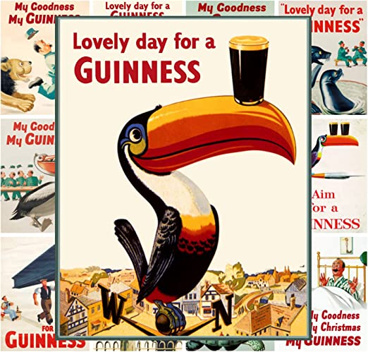 Beer Sea Lion Lovely Day for a Guinness Ireland 16 X 20 Vintage Poster FREE S//H