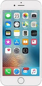 Apple iPhone 6S, 16GB, Silver - Fully Unlocked (Renewed)