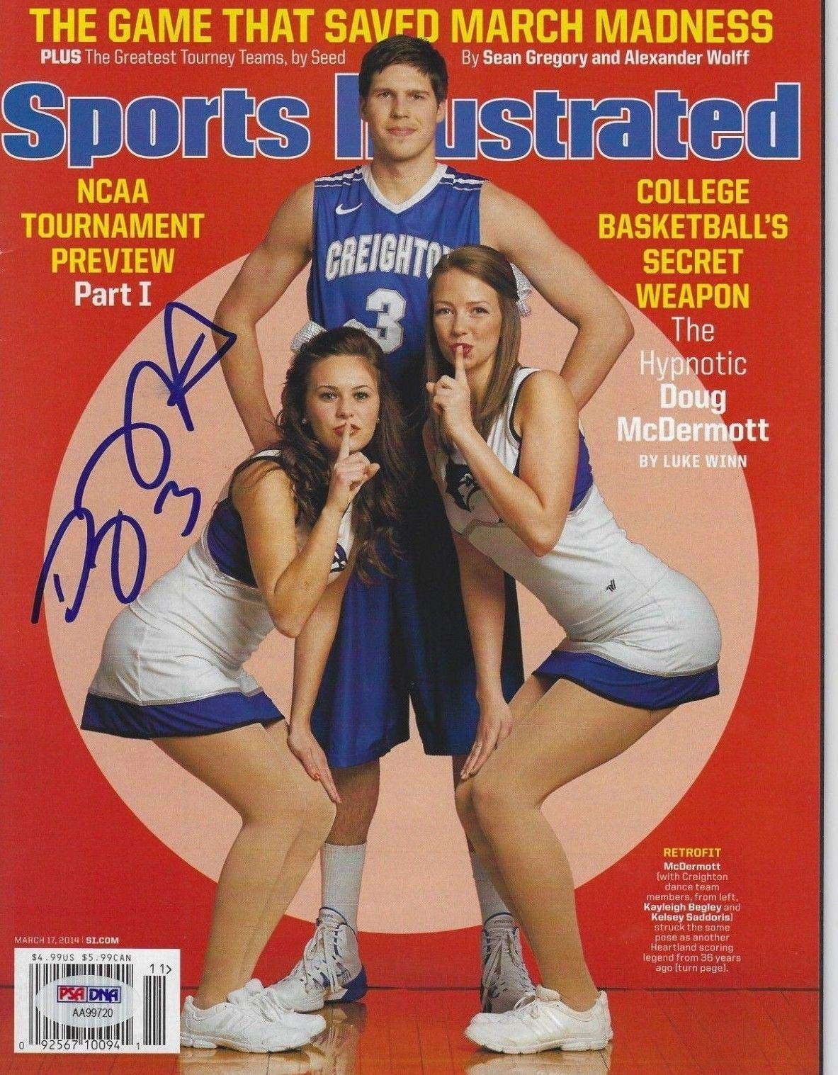 DOUG McDERMOTT (Creighton) Signed SPORTS ILLUSTRATED with COA (NO Label) PSA/DNA Certified Autographed College Magazines