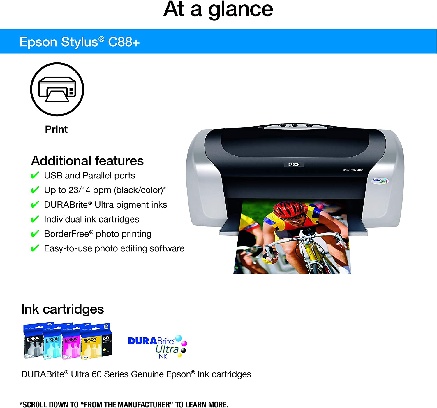 Amazon.com: Epson Stylus C88+ Color Inkjet Printer ...