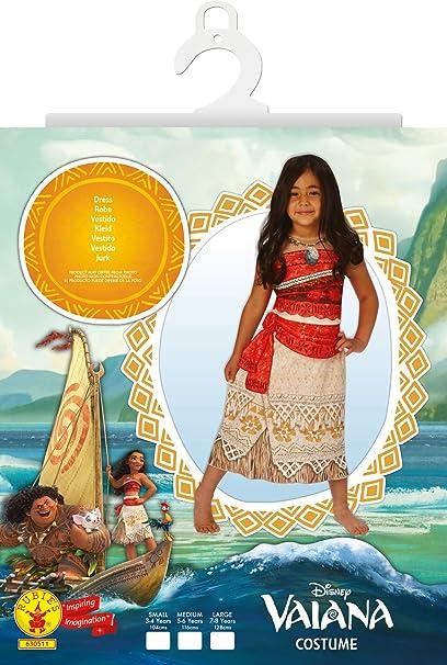 Disney Moana - Disfraz de Vaiana para niña, infantil 5-6 años ...