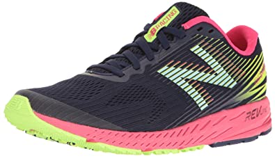 new concept aea13 97e5c New Balance Women s 1400v5 Running Shoe, Dark Denim Bright Cherry 5.5 ...
