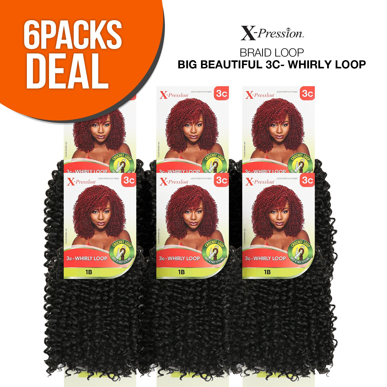 Amazon Outre Synthetic Hair Crochet Braids X Pression Braid 3c