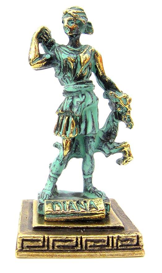 Skulptur Göttin der Antike Diana Artemis & Hirsch Jägerin Figur Frau Veronese Dekoration